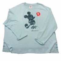 Disney Disneyland Arendelle Aqua Mickey Mouse Reversible Sequin Sweatshirt XL