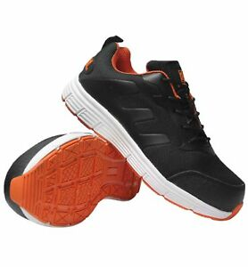 MENS  BLACK LADIES PLASTIC TOE CAP SAFETY ULTRA LIGHT WEIGHT TRAINERS  BLACK