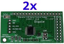 2x Serial:UART/I2C/SPI Adapters for 1602/1604/2002/2004/4002 LCD in Arduino/PIC