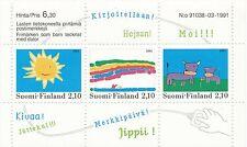 Finland 1991 MNH Sheet - Finnish Children's Drawings - Scott 871
