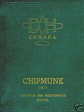 DE HAVILLAND CANADA CHIPMUNK -OPERATION AND MAINTENANCE