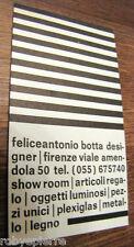 Biglietto da visita optical FELICEANTONIO BOTTA DESIGNER FIRENZE SHOW ROOM raro