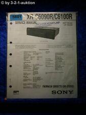 Sony Service Manual XR C6090R /C6100R Car Stereo (#5601)