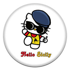 MAGNETE SICILIA TONDO 58 MM CALAMITA FRIGO FRIDGE MAGNET HELLO KITTY SICILY