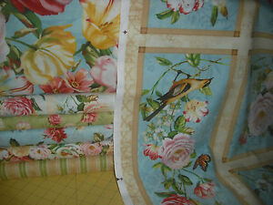 6 diff prints from Wilmington Prints Delicated Romance QUILT Fabric = 5 1/3 yds