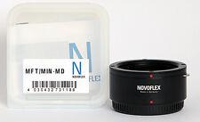 Novoflex adaptador MFT/min-MD Minolta MD a Panasonic g Olympus pen ***