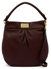 $430 Marc Jacobs Women's Classic Leather Q Hillier Hobo Shoulder Bag in CORDOVAN
