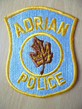 Patches: ADRIAN MICHIGAN COUNTY POLICE PATCH (New,approx. 4.2x3.6)