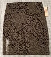 Womens Decree Leopard/Cheetah Print Casual Mini Skirt Size Small New W/Tags