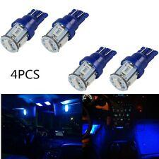 4PCS T10 Wedge W5W 5630 5SMD LED Car Courtesy Light Bulbs 12V High Power Blue