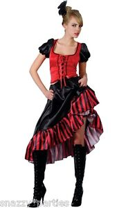 Ladies WESTERN CAN CAN SALOON GIRL Fancy Dress Moulin Rouge Costume UK 8-28 Sexy