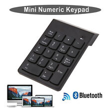 Wireless Bluetooth Number Pad Numeric Keypad 18 Key Digital Keyboard for Laptop