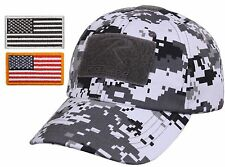 Mens Digital Camouflage Tactical Cap & USA Flag Patch - Rothco Camo Baseball Hat