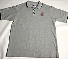 Nascar Racing Bobby Labonte 18 Polo Shirt Mens Size XL Gray Short Sleeve