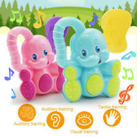 Newborn Child Baby Elephant Shaking Rattles Teether Bell Early Educational Toy