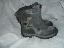 NEXT WOMEN'S GREY MIXED MATERIALS STRAP ANKLE BOOT  SIZE UK 4 EU 37 VGC