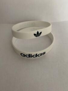 Adidas Sport Baller Band Silicone White w/Black logo