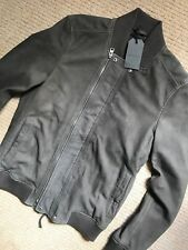 "ALL SAINTS STEEL GREY ""KURNE"" LEATHER BOMBER JACKET COAT - XS S - NEW & TAGS"
