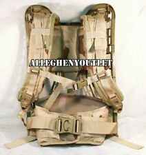 Military MOLLE II Rifleman DESERT TAN FRAME, SHOULDER STRAPS & BELT 4th Gen