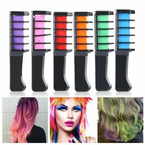 Personal Salon Use Hair Color Chalk Hair Styling Mini Hair Dye Comb Disposable