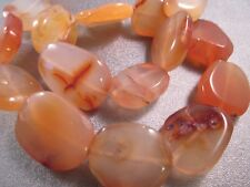 """Natural Carnelian Flat Round Coin Beads 16mm 13pc 8.3/"""" #54016"""