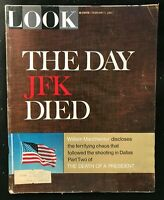 LOOK MAGAZINE - February 7 1967 - THE DAY JFK JOHN F KENNEDY DIED / Manchester