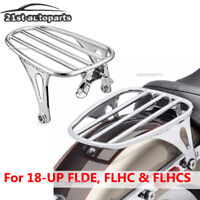 Triple Chrome Solo Luggage Rack For 18-UP Harley Deluxe Heritage Classic 107/114