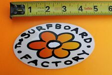 THE SURFBOARD FACTORY Flower Aloha Girl Hawaii V5 Vintage Surfing STICKER