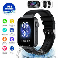 Waterproof Bluetooth Smart Watch Sport Heart Rate Blood Pressure For IOS Android