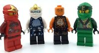 LEGO LOT OF 4 NRG ELEMENTAL NINJA MINIFIGURES ZANE COLE LLOYD KAI FIGS