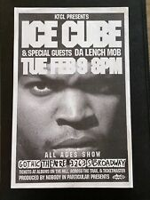 Ice Cube Original Concert Poster From Denver Area