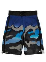 Boys Black & Blue Camo Surf Shorts Swim Trunks Board Shorts