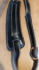 Soldier 2002 EXTRA HEAVY DUTY LEATHER guitar strap (black)! FREE USA SHIPPING!