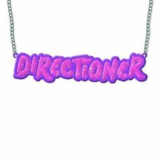 1D One Direction Pink Name Band Logo Necklace Chain Pendant Official Gift Idea