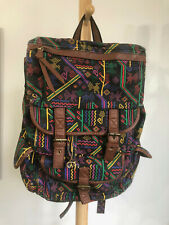 Ecote Black Canvas with Tribal Multi-Color Backpack New wo Tags