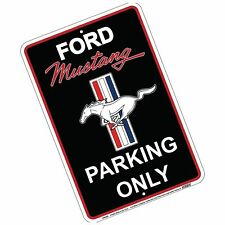 "FORD MUSTANG PARKING ONLY 8 x 12"" METAL EMBOSSED SIGN PONY GT LOGO GARAGE"