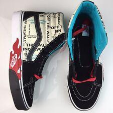 Vans Old Skool OTW Flame Black/White Sk8-Hi Skate Skateboarding Mens 8.5 9 New