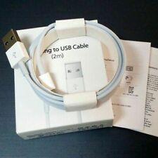 Genuine Apple 2M Lightning USB Charger Lead Cable For iPhone 5 5S 6 6S 7 8 X XS