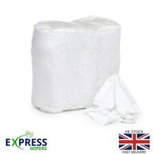 More details for 10kg bag mixed white cleaning rags wipers garage engineering wiping cloths