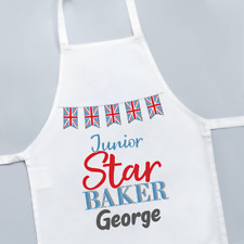 Personalised Junior Star Baker Great British Bake Off Kids Childrens Apron