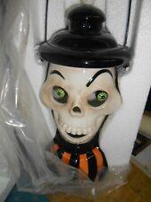 Department 56 Vtg '05 Halloween Lit Lantern Pumpkin/Skeleton Frankenstein's Lab