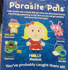 Parasite Pals Pencil toppers - New in package - Head Louse & Tape Worm and more