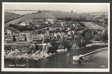 Postcard Looe nr Polperro Cornwall aerial view RP