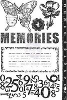 """Prima 559380  /""""Zephyr/""""  Cling Stamps  10 pieces  Size 4/""""x6/"""" NEW"""