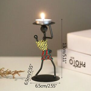 Nordic Metal Candlestick Abstract Character Handmade Figurines Sculpture Candle