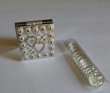 Wedding coin set Silver color. Arras de Boda en color Plata Anniversary coin's