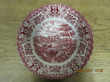 British Anchor Olde Country Castles Pink. Vegetable Bowl, 9""