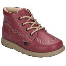 Scarpe rosa Kickers in pelle per bambini dai 2 ai 16 anni
