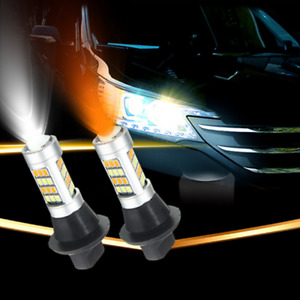 7440 Amber/White Color 2835 LED Bulbs Fit For Front Switchback Turn Signal Lamp