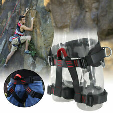 Outdoor Heavy Duty Tree Climbing Rappelling Belt Rigging Rock Harness Safety BK